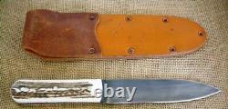 Jeff Morgan Custom Large Hunting Fixed Blade Knife, Sambar Stag, 1095hc