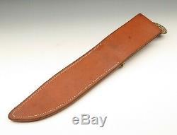 Jim Sigg Siggma Knives USA Large Custom Handmade Stag Crown Bowie Hunting Knife