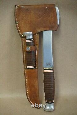 Ka-Bar Axe & Knife Combo Set withLeather Sheath KABAR 1331 & 1232 Ax MADE IN USA