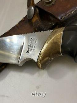 Kershaw Elk Hunter Fixed Blade Skinner Knife Kai Japan 1034 No Box Vintage