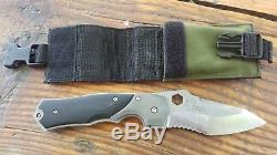Knights Armament SK-02 Black Opps Folding Knife 1980s Never Used