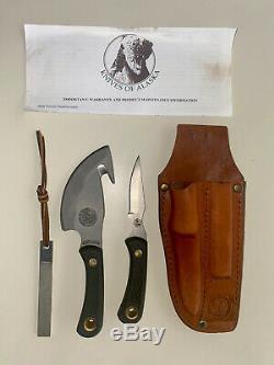 Knives of Alaska Light Hunter Combo Suregrip Hunting Knife Set Slightly Used