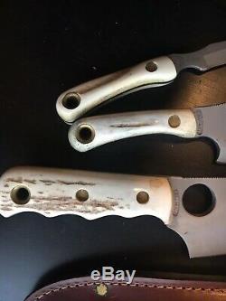 Knives of Alaska Triple Combo Stag handle Brown Bear, Light Hunter, Cub Bear