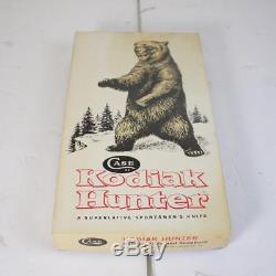 Kodiak Hunter Case XX USA Stag Hunting Knife with Leather Sheath in Original Box