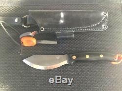 LT WRIGHT JESSMUK JX2 Fixed Blade Knife Scandi Grind O1 Tool Steel Bushcraft