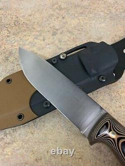 LT Wright Fixed Blade Handmade Knife With Kydex Sheath