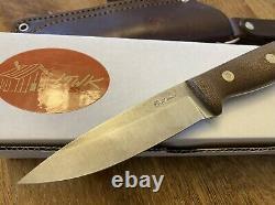 LT Wright GNS Sabre Grind O1 Green Canvas Micarta- Woodlore Bushcraft Knife