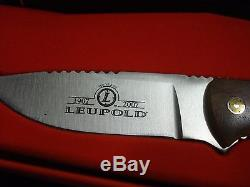 Leupold Century Limited Edition 3-9X40 LR Duplex Scope 100 Yr Anniversary knife