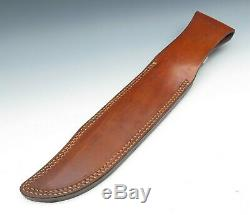 Limited Edition 1991 Gerber USA Coffin Handle Cordia Wood Utility Bowie Knife