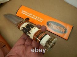 MARBLES USA Stag on Stag 7 IDEAL HUNTING KNIFE Mint in Box