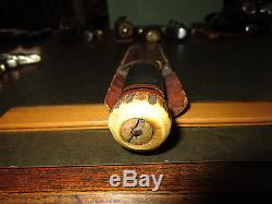 MSA Gladstone Marbles Stag pommel 6 hunting knife and Sheath