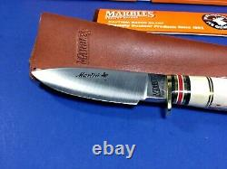 Marble's, Gladstone, USA, Rare, Marlin-Stag Horn Handle Fixed Blade Knife with Box