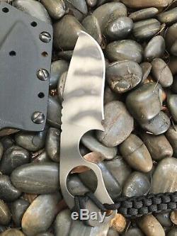 Mick Strider Knives Vintage OG Fixed Blade Recurve SLCC SPD w Kydex Sheath