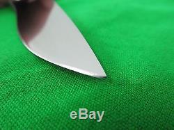 Mike Irie Custom Hunting Knife Fixed Blade with Leather Sheath