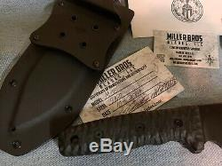 Miller Bros Blades M-8 with Choil 5160 steel MBB Knife Kydex Sheath -Made in USA