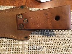 Morseth custom stag handle hunting knife withsafety lock sheath