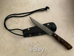 Murray Carter Damascus Executive Office Neck Knife (Ironwood) & Kydex sheath