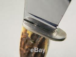 NICE VINTAGE CASE GENUINE STAG HUNTING KNIFE 1940-65 # 5361 WithORIG SHEATH XX NR