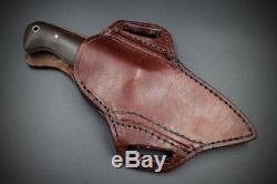 NWA Knives (Nick Allen) Custom Hunter Knife withSheath (Hunting, Bushcraft, EDC)