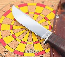 Nice! Vintage 1940 1965 Case USA Stacked Leather Handle Hunting Knife & Sheath