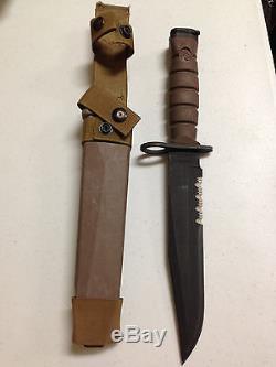 ONTARIO KNIFE CO. USMC OKC 3S BAYONET KNIFE MARINE ISSUE USED