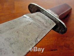 Old Bowie Fighting Hunting Knife Custom Handmade Marek Estate 9.5 Clip Point
