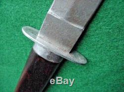 Old Custom Knife Handmade Hunting Skinning Bowie 9 Blade Cleaned Wood Handle