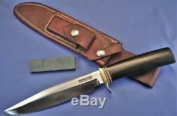Old RANDALL Knife M5-7 Black Micarta, Vietnam Era. 7 Spacers, RBJ