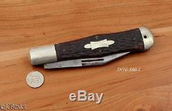 Old antique WINCHESTER COKE BOTTLE STYLE 1920 hunting camp knife folding