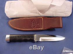 Original Randall 5 Gambler Knife with Figer Grips Black Micarta handle Sheath