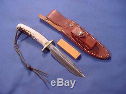 Original Randall Knife Model 1 6 Blade Polished Stag bayonet dagger spear