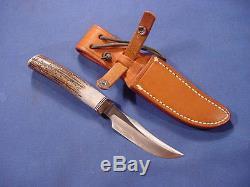 Original Randall Knife Model 8 Old Gring 4 Blade Stag bayonet dagger spear