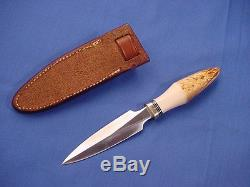 Original Randall Made Model 2 4 Stag Boot Knife and Johnson Rough Back Sheath