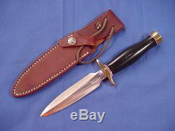 Original Randall Made Model 2 5 Knife withRMK No-hone Sheath Black Micarta