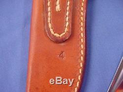 Original Randall Made Model 8 Gail White Knife withRMK Pocket Sheath White Stag