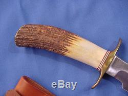 Original Randall Model 1 7 Fighting Knife withJRB sheath and orange stone