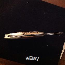 Original SAFETY HUNT Blade Hunt USA Old MARBLES Stag Knife Fold Sheath Case