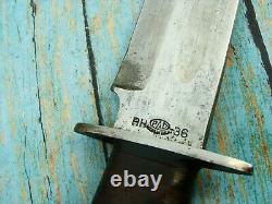 Original Ww2 Pal Rh36 Us Combat Fighting Bowie Knife & Scabbard Knives Tools