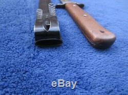 Original Ww2 Vintage German Luftwaffe Eagle 6 Fighting Knife And Scabbard