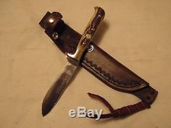 Puma Knife Jagdnicker 3589 Stag 1978 Solingen Hunting Skinning Leather Sheath