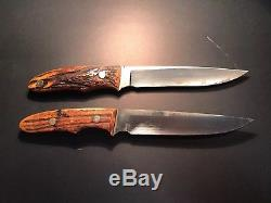 Pair of Lile Hunting Knives with original sheath