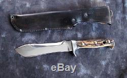 Puma 6377'White Hunter' 6 Hunting Knife withStag & Sheath, pre-1964