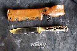 Puma 6378 Outdoor Hunting Knife withSheath & Stag, 1982 Germany