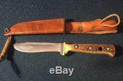 Puma Hunting Knife Stag Bone Handle with Original Sheath Model 6398