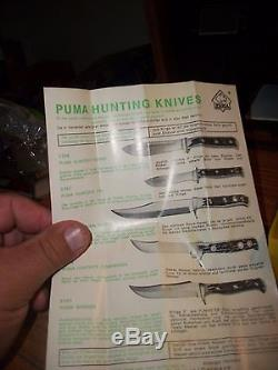 Puma SKINNER Hunting Knife 6393 Made In Germany withsheath & original box & papers