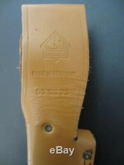 Puma White Hunter 47192 Stainless Handmade in Germany Knife and Leather Sheath