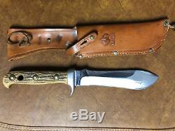 Puma White Hunter Pre-64 Stag Handled Hunting Knife withOriginal Sheath Excellent