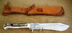 Puma White Puma Steel Fixed Blade Knife, Stag, Sheath, 6377, 1971