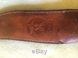 R. H. Ruana M stamped hunting knife with sheath