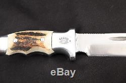 R. H. Ruana Montana #20 / 21A Knife, 6 1/8 Blade 10 3/4 OA, Finger Grooves